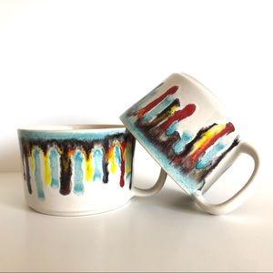Crate&Barrel Mug Set (2)